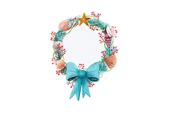 Beachy Christmas Wreath Christmas Craft Cut File By Creative Fabrica Crafts