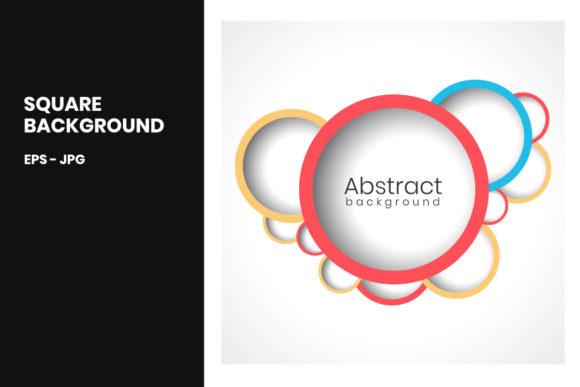Print on Demand: Abstract Ring Square Background Graphic Backgrounds By doridodesign