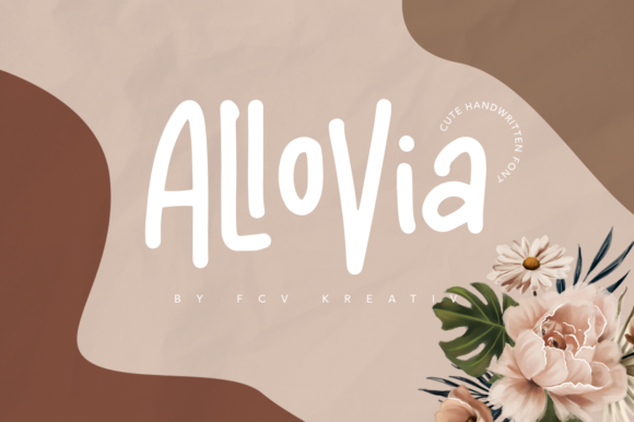 Print on Demand: Allovia Script & Handwritten Font By fcvkreativ std