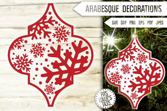 Arabesque Snowflakes Svg. Ornaments Svg. Graphic Crafts By Mint And Beer Creations