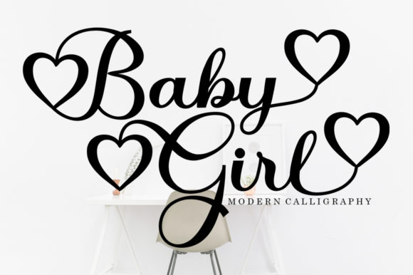 Print on Demand: Baby Girl Script & Handwritten Font By bosstypestudio