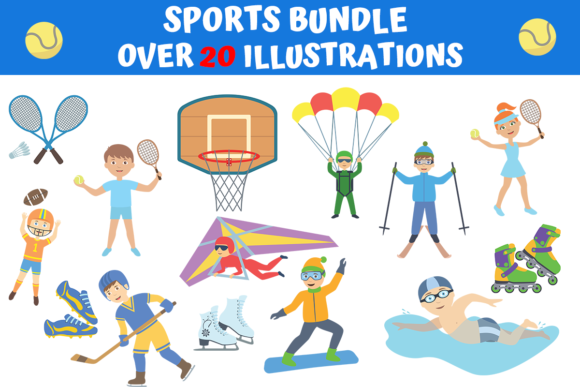 Print on Demand: Beautiful Sports Bundle  von MyBeautifulFiles