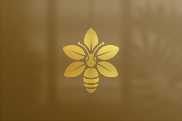 Print on Demand: Bee Flower Graphic Logos By shininglabs