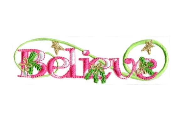 Believe Christmas Embroidery Design By Sew Terific Designs