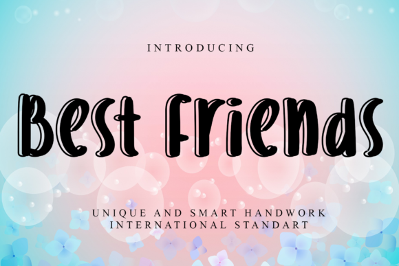 Print on Demand: Best Friends Script & Handwritten Font By giatstudios
