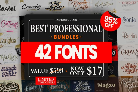 Print on Demand: Best Professional Font Bundle  von HansCo