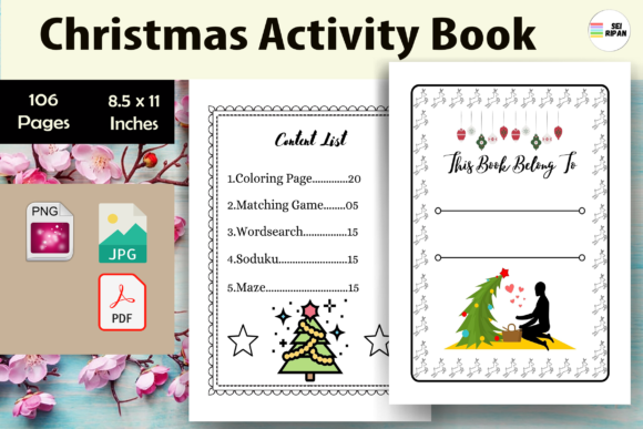 Print on Demand: Christmas Activity Book-KDP Graphic KDP Interiors By Sei Ripan