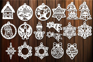 Print on Demand: Christmas Baubles, Christmas Template Graphic Crafts By yulnniya