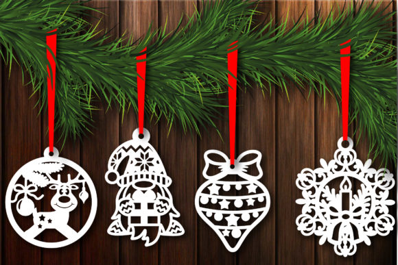 Christmas Baubles, Christmas Template Graphic Graphic