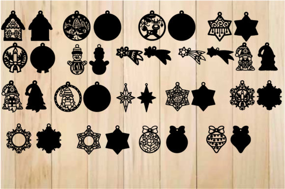 Christmas Baubles, Christmas Template Graphic Item
