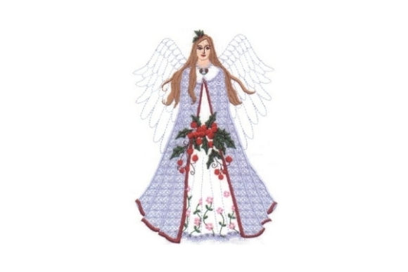 Christmas Fairy Christmas Embroidery Design By Sew Terific Designs