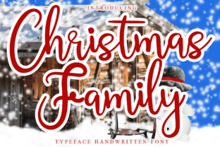 Print on Demand: Christmas Family Script & Handwritten Font By giartstudios