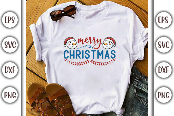Print on Demand: Christmas Gnome Design, Merry Christmas Graphic Print Templates By GraphicsBooth
