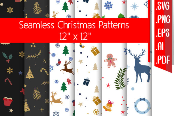 Christmas Seamless Patterns Graphic Crafts By assalwaassalwa