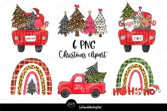 Christmas Sublimation PNG Graphic Illustrations By CatAndMe