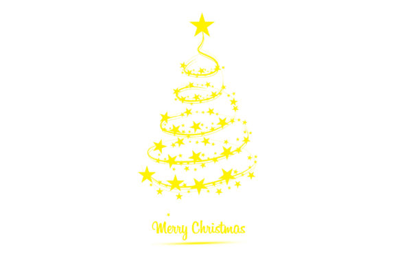 Christmas Tree of Stars Graphic Icons By Aradevi