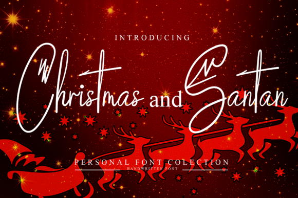 Print on Demand: Christmas and Santan Script & Handwritten Font By giatstudios