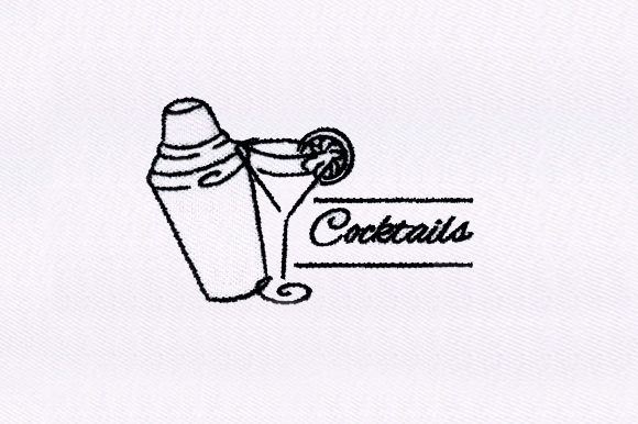 Cocktail Shaker Wine & Drinks Embroidery Design By DigitEMB