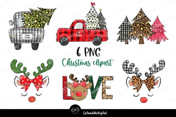 Cute Christmas Sublimation PNG. Graphic Illustrations By CatAndMe