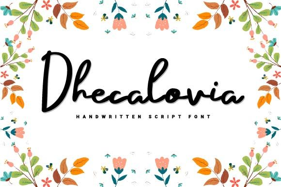 Print on Demand: Dhecalovia Script & Handwritten Font By Prioritype