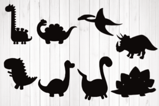 Print on Demand: Dinosaur Svg, Silhouette, Graphic Illustrations By rayan
