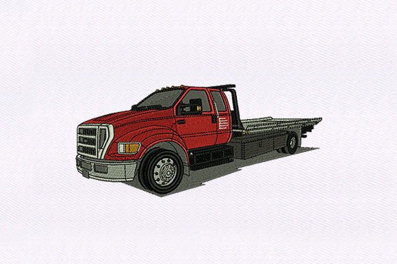 Domestic Truck Transportation Embroidery Design By DigitEMB