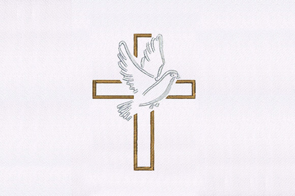 Dove & Cross Religion & Faith Embroidery Design By DigitEMB