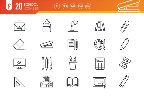 Education and Back to School Icon Set Graphic Icons By ferart88