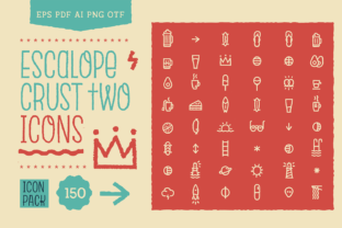 Print on Demand: Escalope Crust Two Icons Graphic Icons By antipixel
