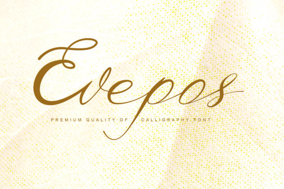 Print on Demand: Evepos Script & Handwritten Font By hafidtrihandoko.ps