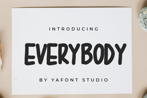 Print on Demand: Everybody Display Font By Yafont