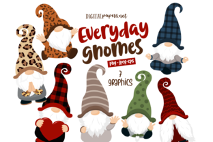Print on Demand: Everyday Gnomes Graphic Illustrations By DigitalPapers