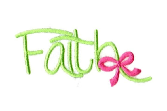 Faith Christmas Embroidery Design By Sew Terific Designs