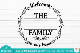 Print on Demand: Family Monogram Frames Bundle Graphic Crafts By redearth and gumtrees 10