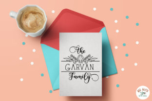 Print on Demand: Family Monogram Frames Bundle Graphic Crafts By redearth and gumtrees 17
