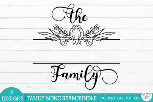 Print on Demand: Family Monogram Frames Bundle Graphic Crafts By redearth and gumtrees 4