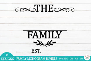 Print on Demand: Family Monogram Frames Bundle Graphic Crafts By redearth and gumtrees 5
