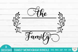 Print on Demand: Family Monogram Frames Bundle Graphic Crafts By redearth and gumtrees 6