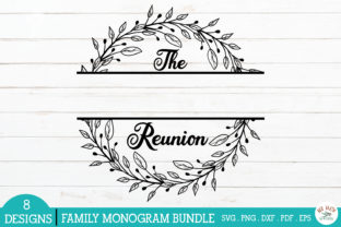 Print on Demand: Family Monogram Frames Bundle Graphic Crafts By redearth and gumtrees 7