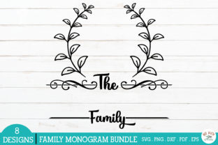 Print on Demand: Family Monogram Frames Bundle Graphic Crafts By redearth and gumtrees 9