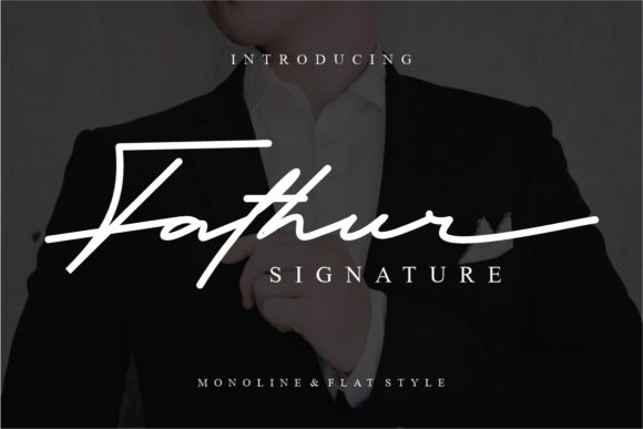 Print on Demand: Fathur Script & Handwritten Font By putracetol