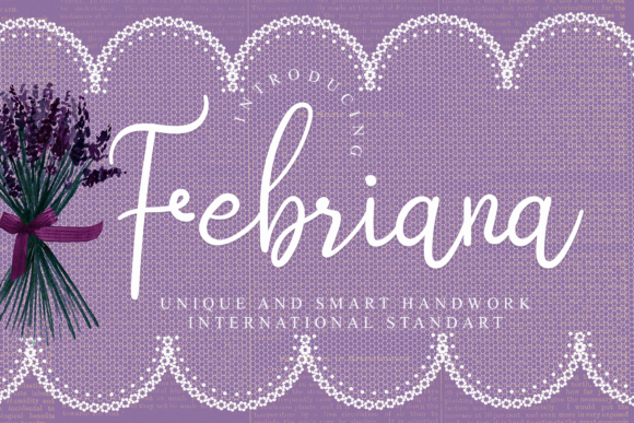 Print on Demand: Febriana Script & Handwritten Font By giatstudios