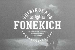 Print on Demand: Fonekich Display Font By shininglabs