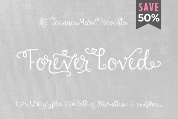 Print on Demand: Forever Love Script & Handwritten Font By joanne.hewitt