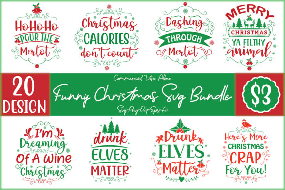 Funny Christmas Bundle  von Printable Store