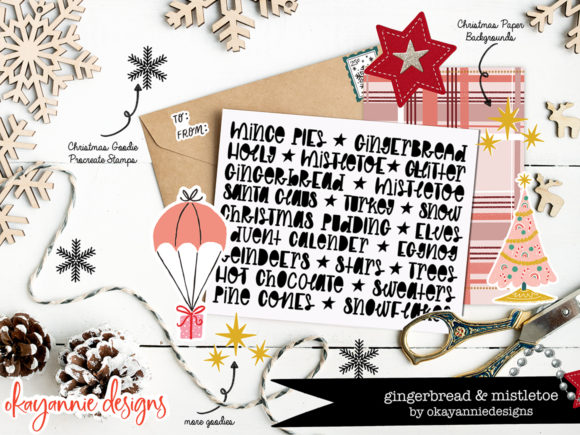GingerBread & Mistletoe Font Item