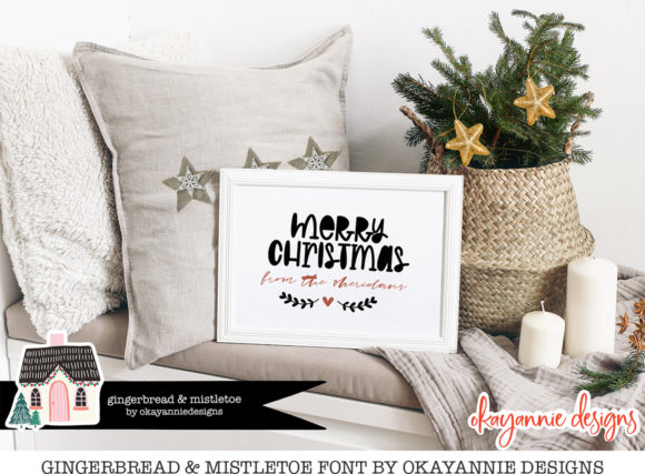 GingerBread & Mistletoe Font Preview
