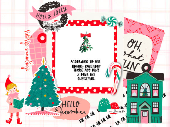 GingerBread & Mistletoe Font Downloadable Digital File