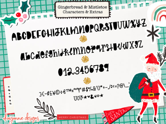 GingerBread & Mistletoe Font Popular Design