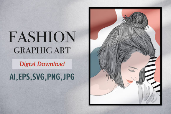 Print on Demand: Graphic Short Hair Style Girl in Spring Graphic Illustrations By Saydung89